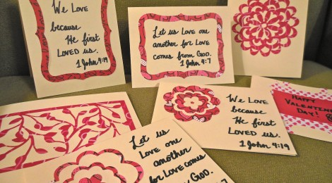 Sorority Girl - Handmade Valentine's Cards - Scripture Focused