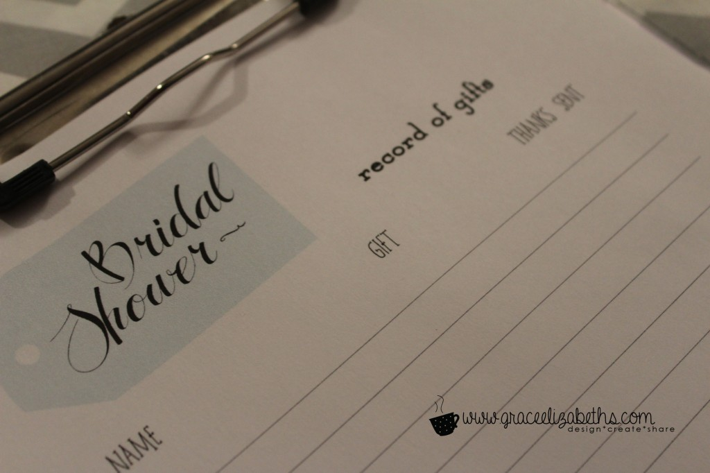 Bridal Shower Gift Record Template : Bridal Shower: Umbrella Themed DetailsGrace Elizabeths