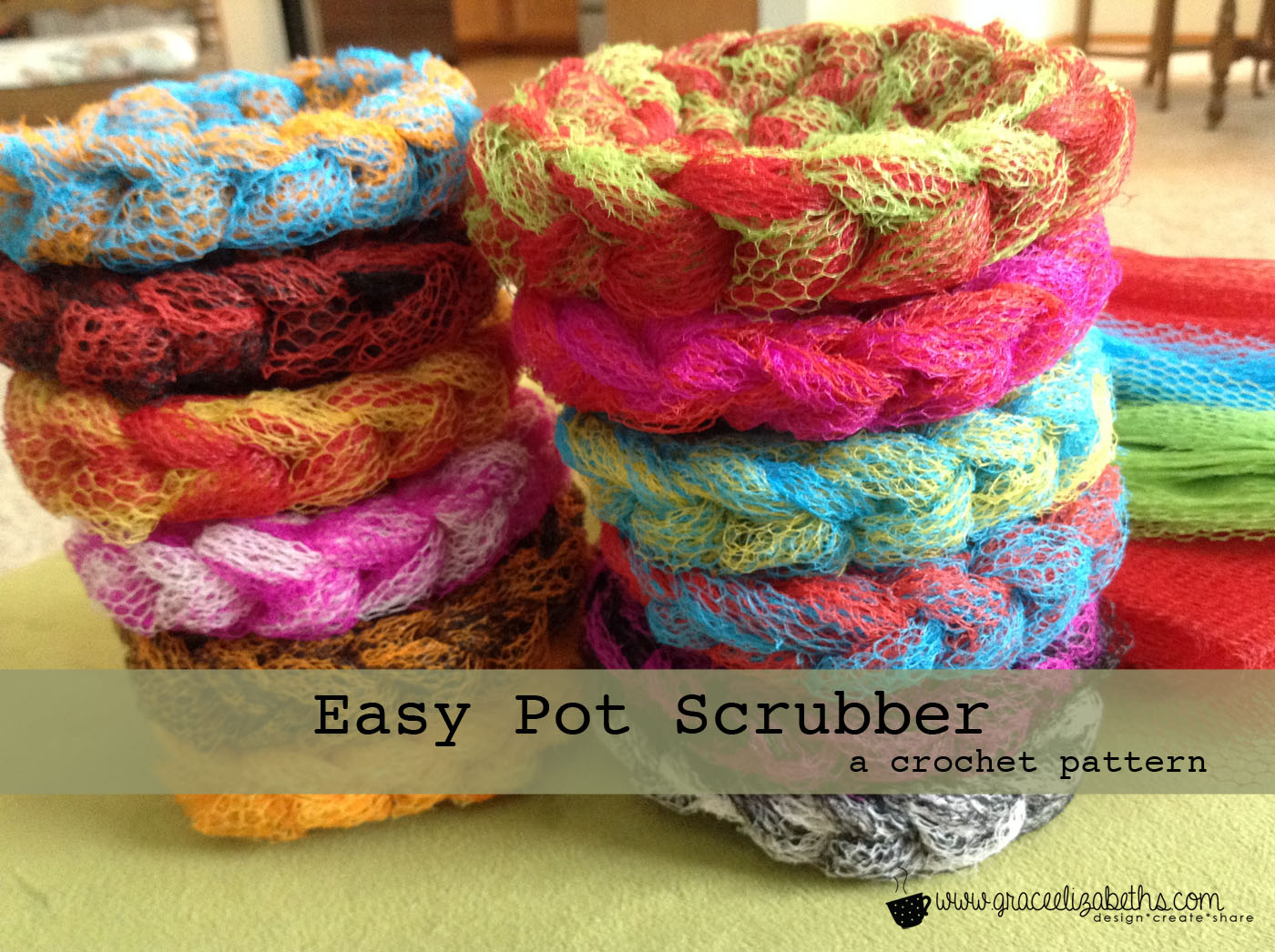 Crocheting Pot Scrubbers : FREE Pattern: Easy Pot Scrubber - Grace Elizabeths