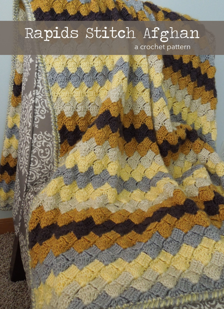 Rapids Stitch Afghan Pattern by Grace Elizabeths (www.graceelizabeths.com)