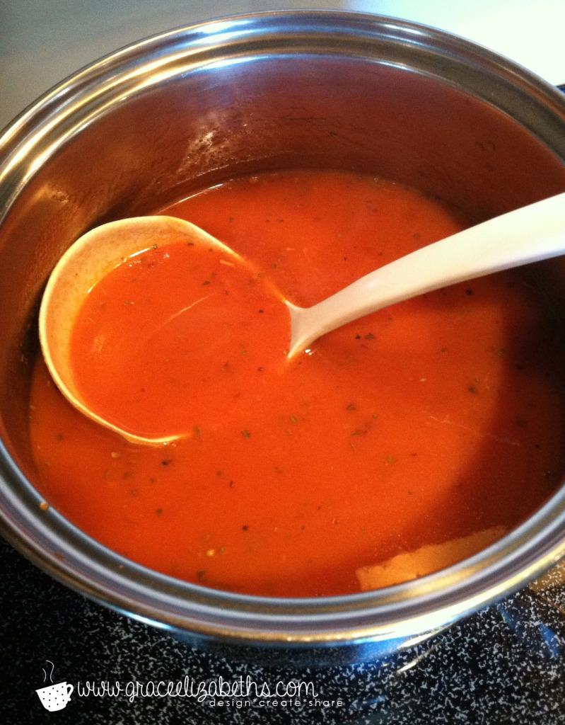 Easy Basil Tomato Soup by Grace Elizabeth's