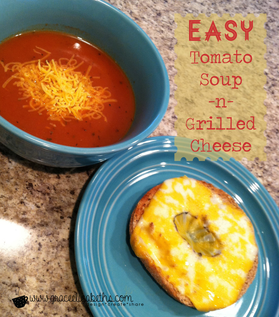 Easy Tomato Soup & Grilled Cheese by Grace Elizabeth's