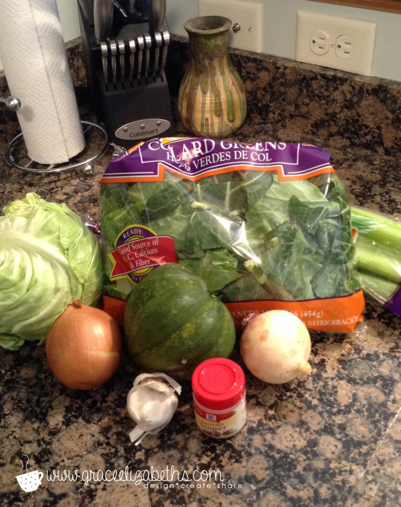 Ingredients for Healthy Homemade Vegetable Broth