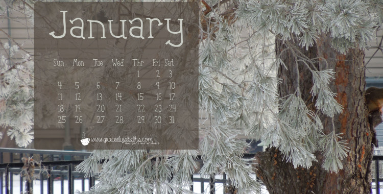 FREE January Calendar Background - Wallpaper Download