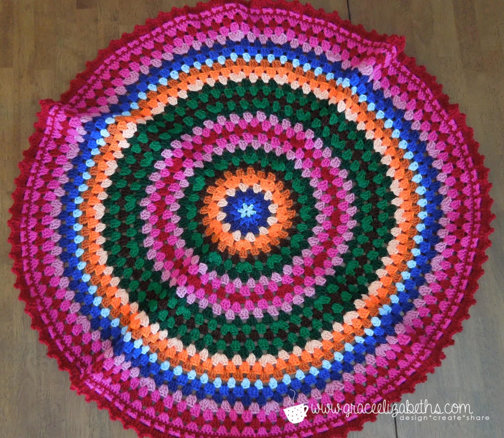 Full view of Circle Baby Blanket
