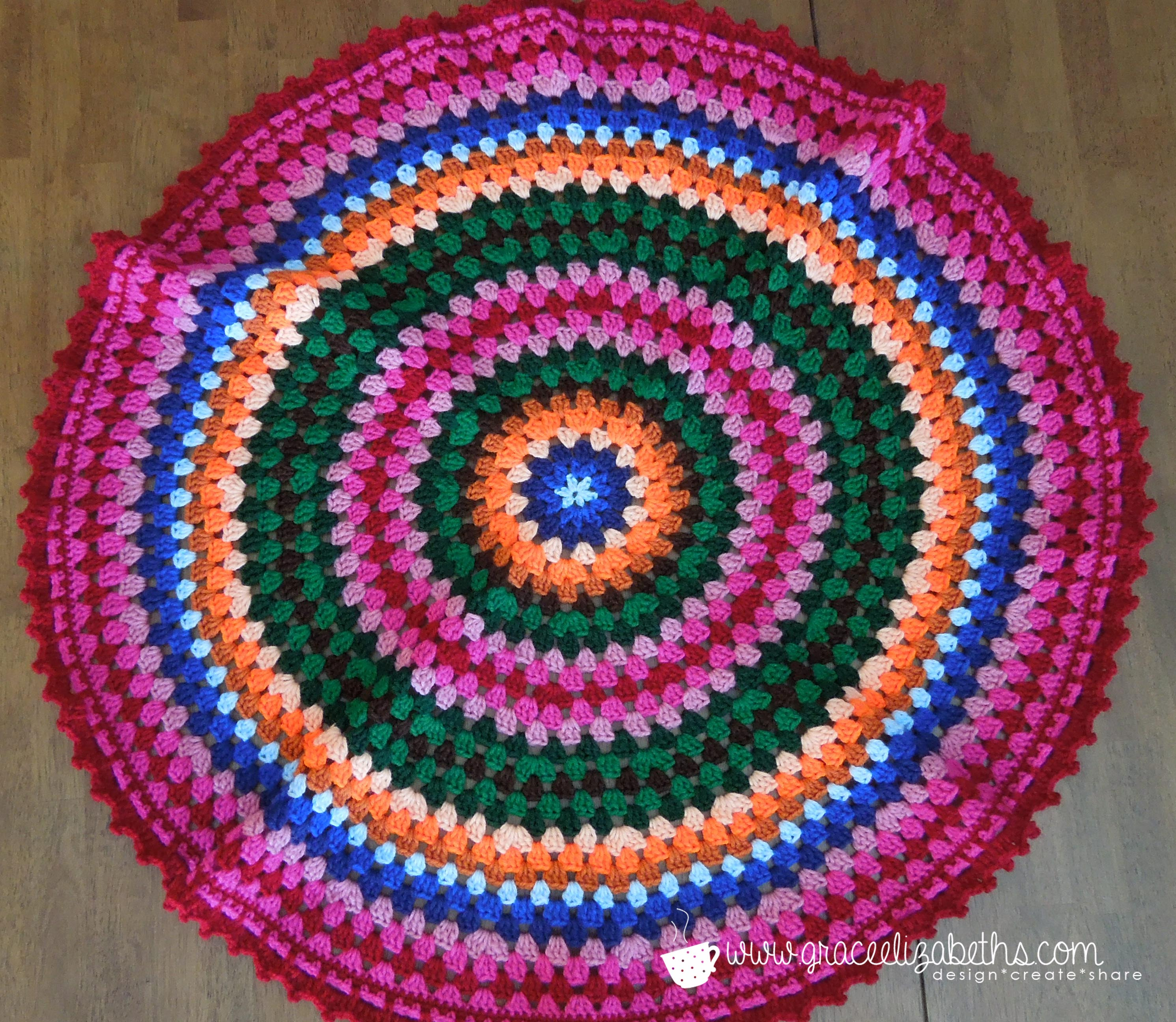 Free Crochet Pattern For Circle Baby Blanket : Crochet Circle Baby Blanket - Grace Elizabeths