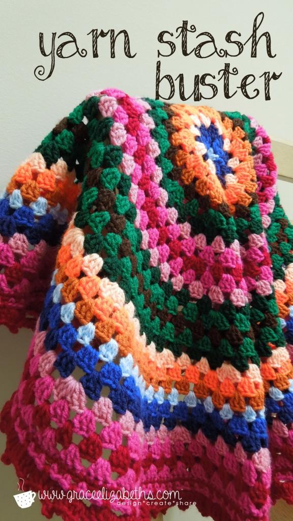 Yarn Stash Buster: Crochet Circle Baby Blanket