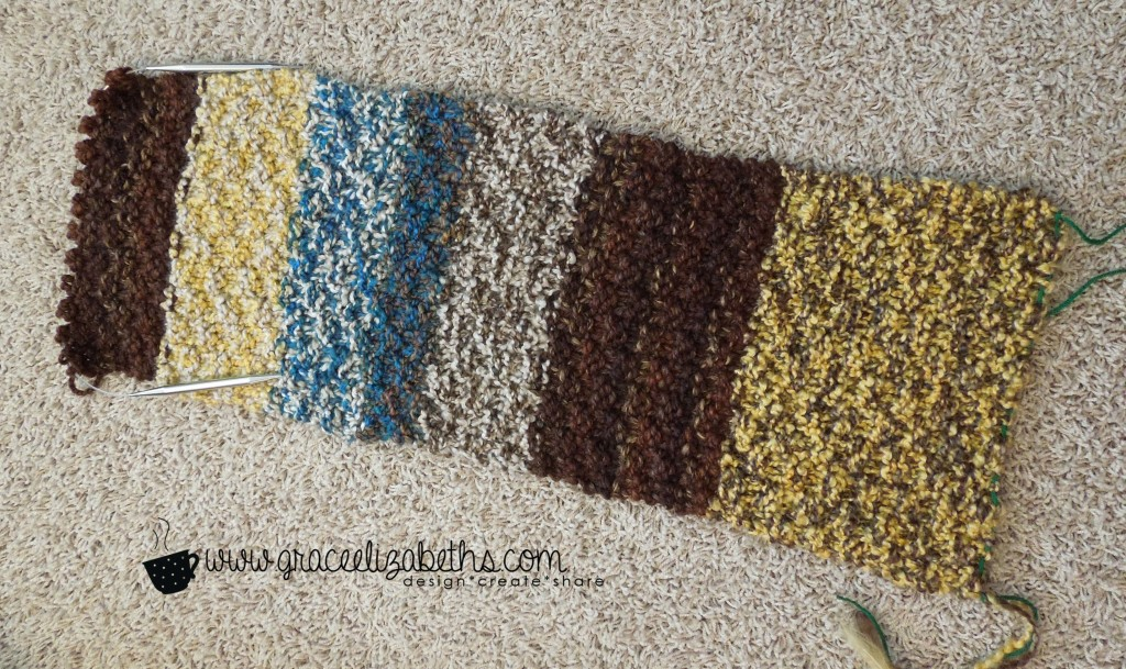 Yarn Stash Buster: Cowl ends tucked - Free Pattern
