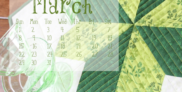 FREE Calendar Download: March National Craft Month