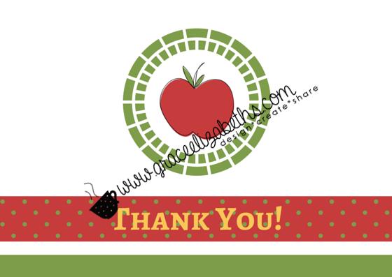 Thank You Note Idea for Teacher Appreciation Day