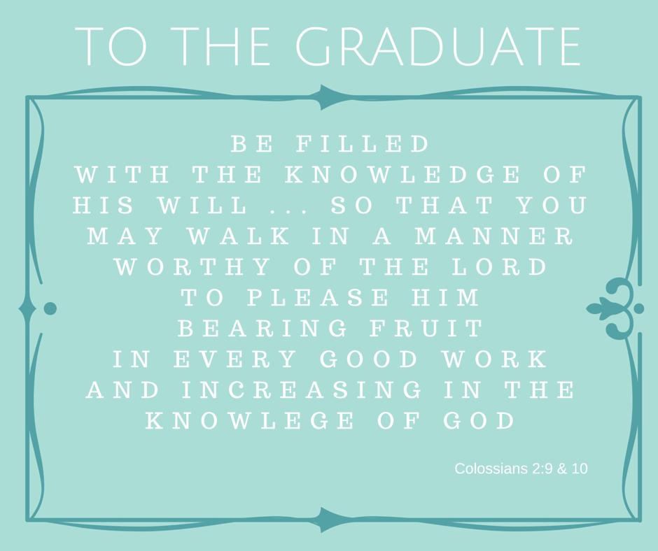 Scripture for the Graduate - Grace Elizabeth's