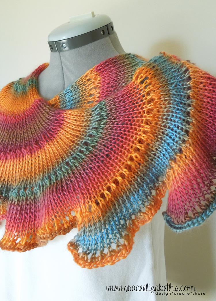 Scarf - Lichen Pattern by Larissa Brown, Knitted by Grace Elizabeth's