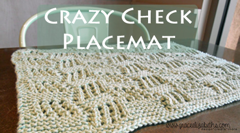 Crazy Check Placemat Pattern Download Is Now Available Grace