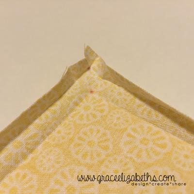 mitered corner folds