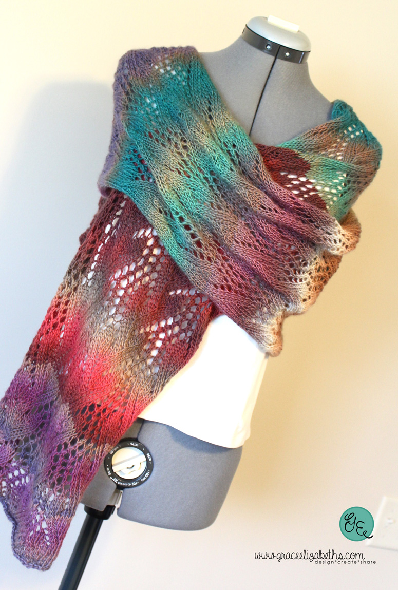 Trailing Vine Lace Scarf Pattern by Grace Elizabeth's