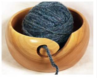 Wood Yarn Bowl by Styren Designs