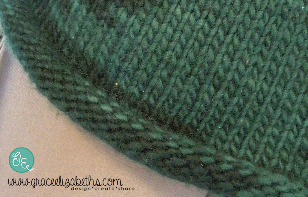 View of Rolled-Edge on the Easy No-Nonsense Sweater