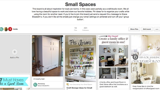 Small Spaces Pinterest Board
