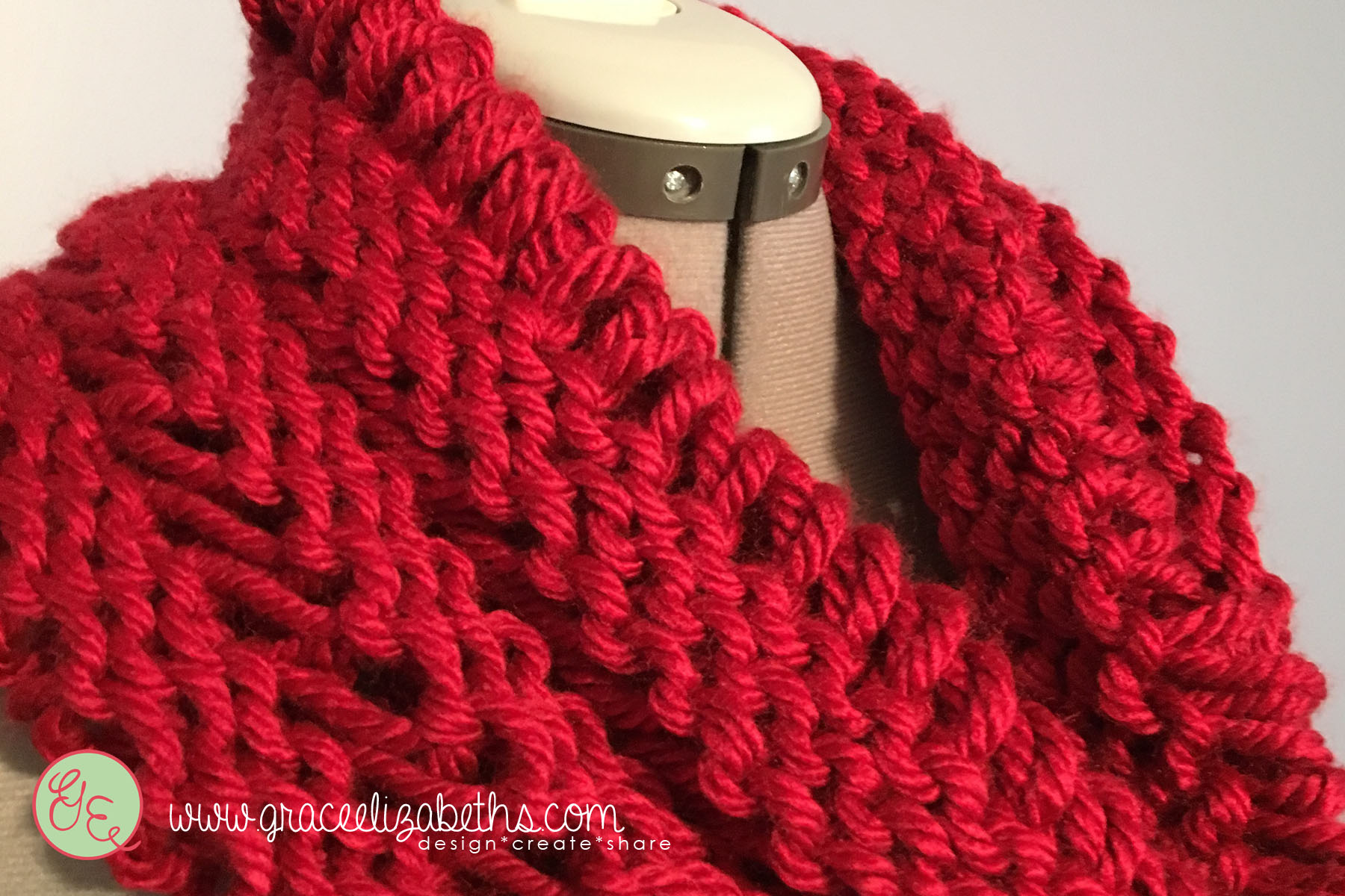 Knit Cowl: Drop Stitch Cowl free pattern - Grace Elizabeth's