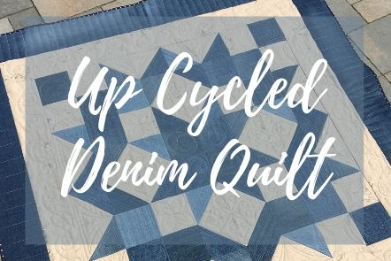 Up Cycled Denim Picnic Blanket