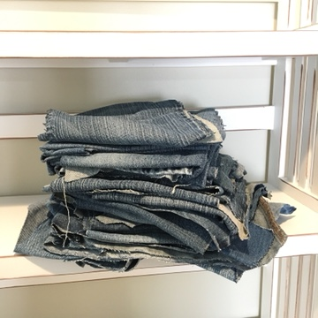 Stack of Denim for Quilt Project
