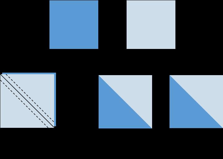 Quilting a Half Square Triangle Unit