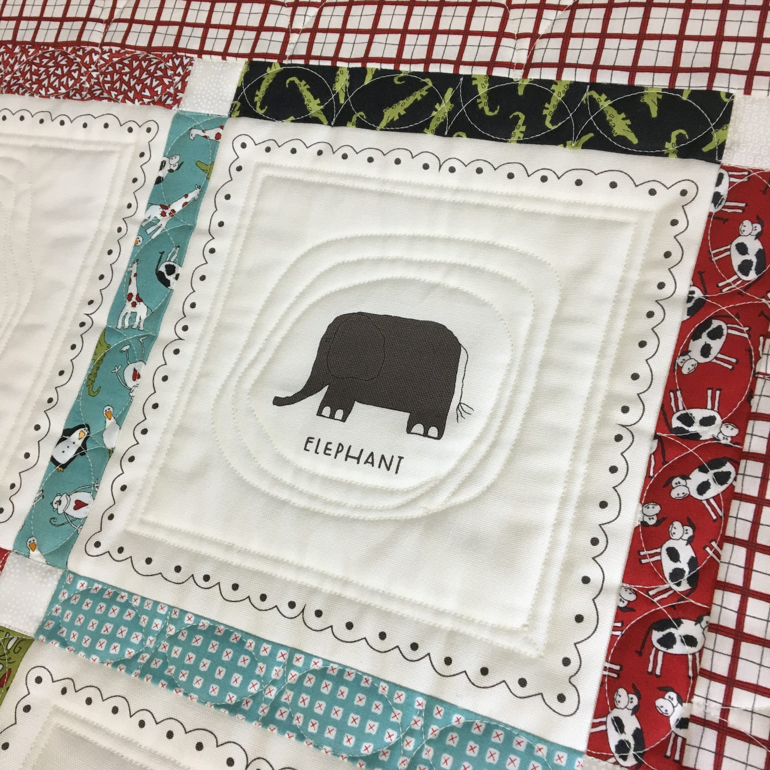 Duck Duck Moo Pattern using Animal Crackers Fabric Collection - Quilting by Grace Elizabeths Inc.